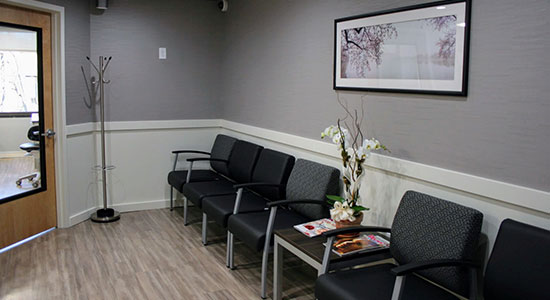 Waiting area for patients